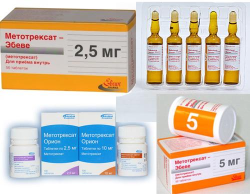 метотрексат в ампулах и таблетках