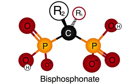 схематическое изображение молекулы бисфосфоната