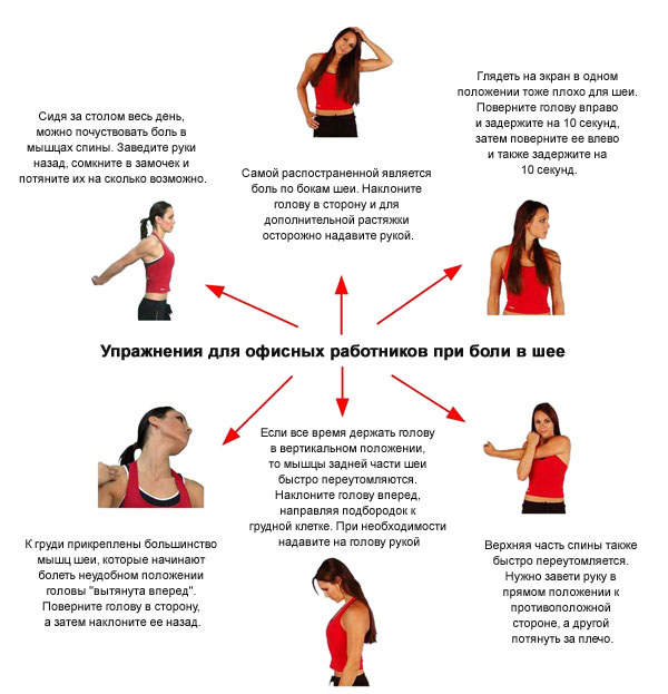 рекомендуемые упражнения для людей, работающих в офисе