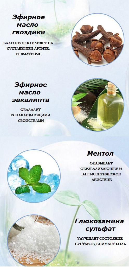 эффект основных ингредиентов геля
