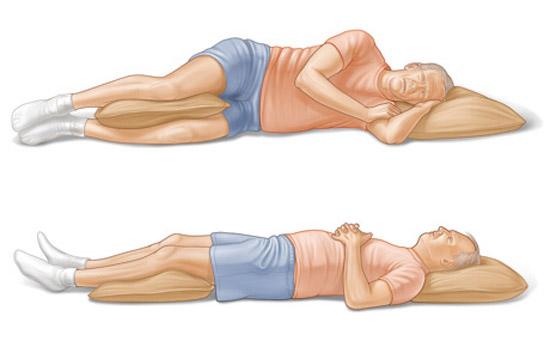 рекомендованные позиции для сна при болях в спине