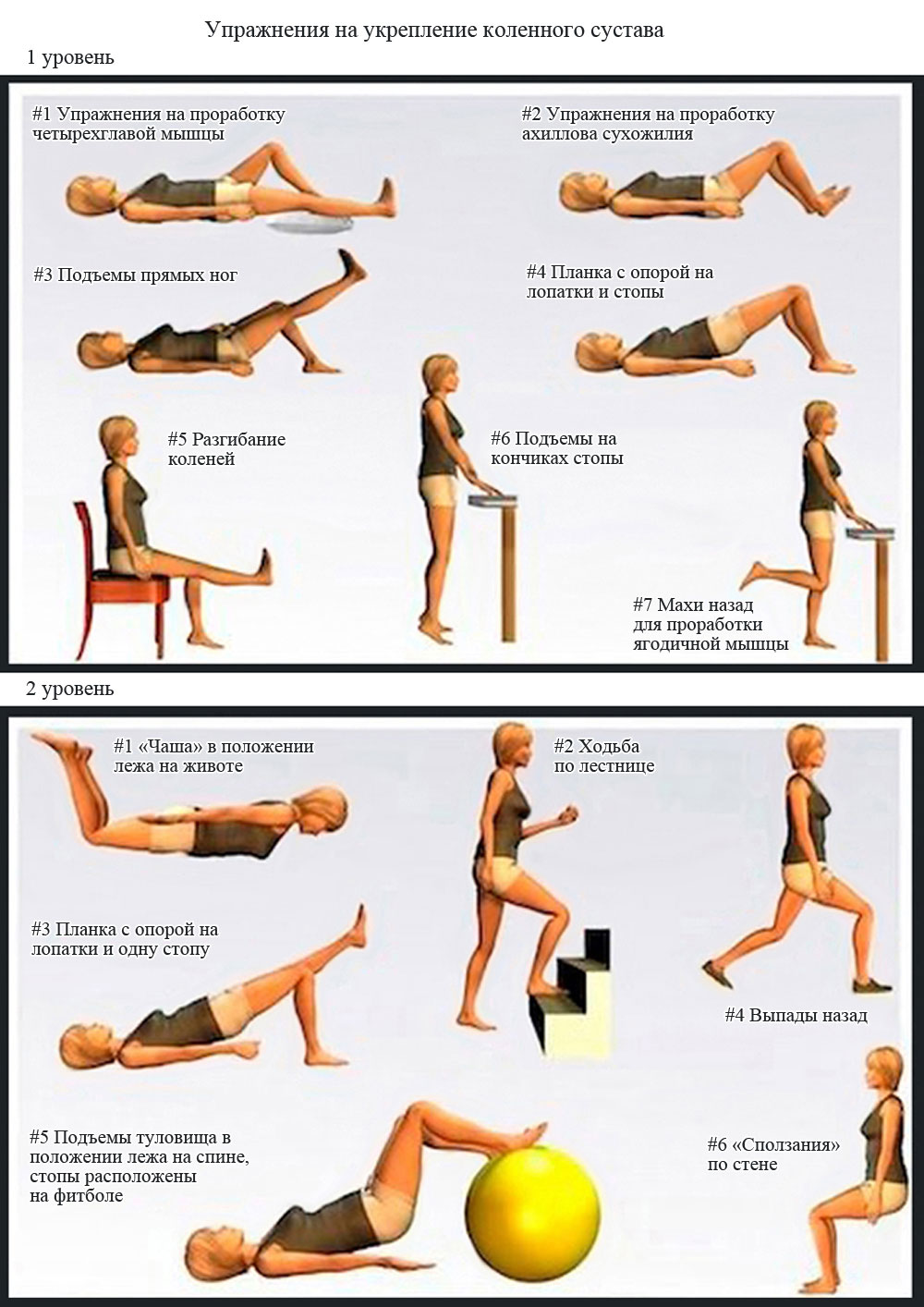Упражнения для реабилитации коленного сустава квота при операции по замене коленного сустава