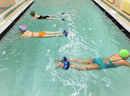 занятия в санатории в бассейне